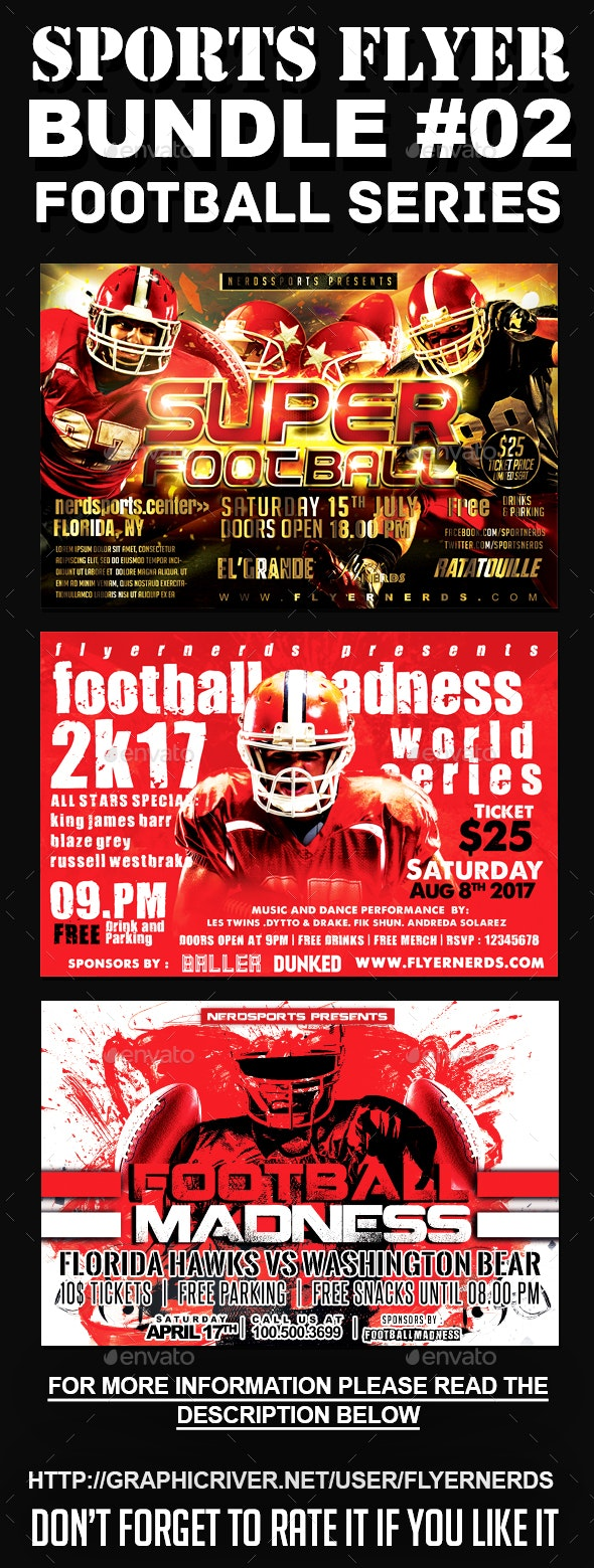 Sports Flyer Bundle 02 Football Series - Sports Events
