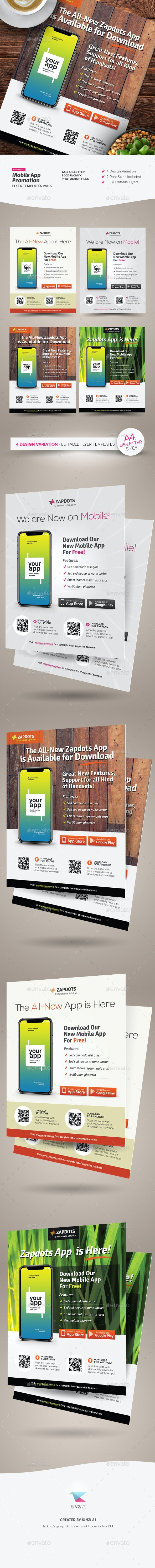 Mobile App Promotion Flyers Vol.02 - Corporate Flyers