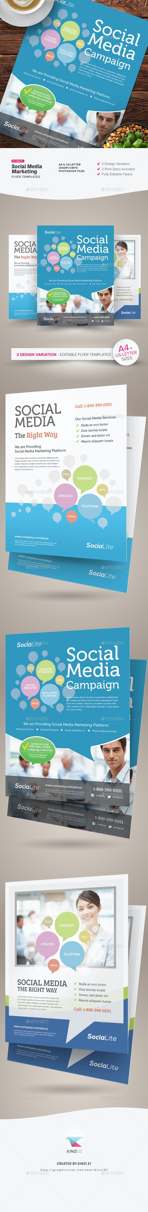 Social Media Marketing Flyer - Corporate Flyers