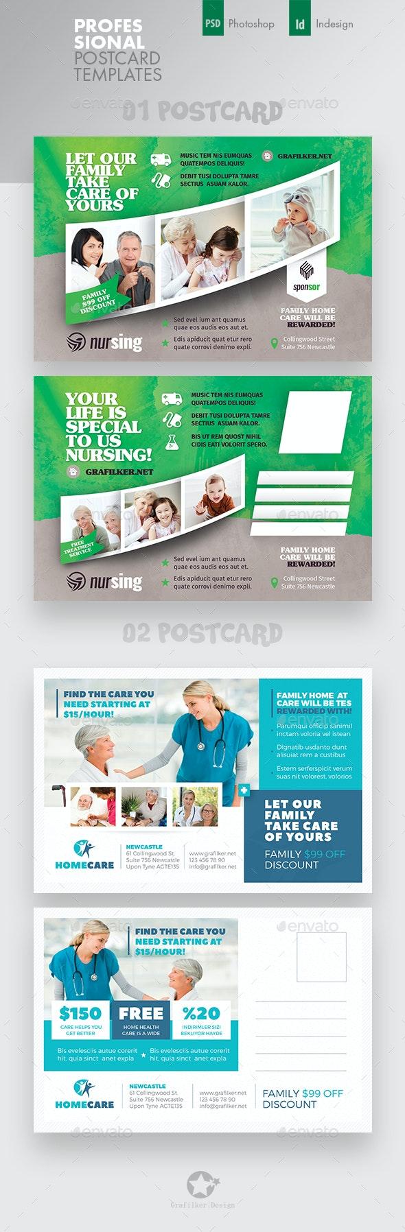 Home Care Postcard Bundle Templates - Cards & Invites Print Templates