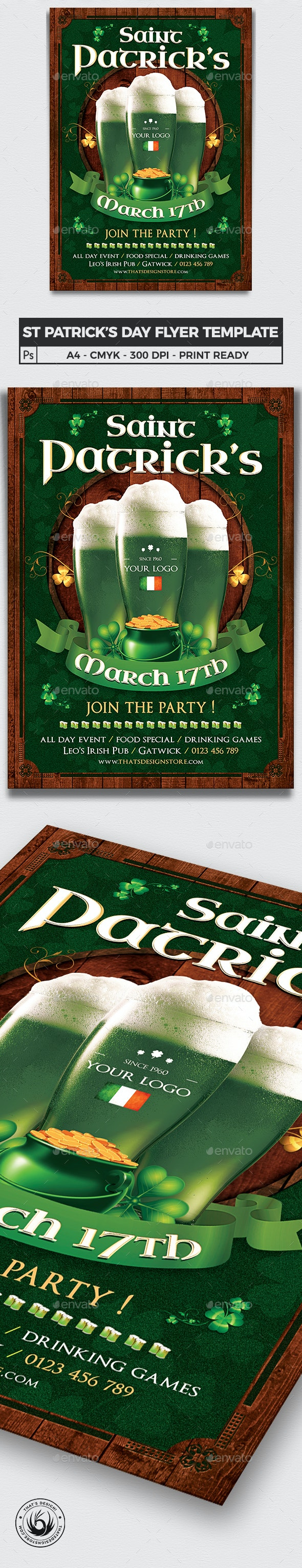 Saint Patricks Day Flyer Template V8 - Clubs & Parties Events