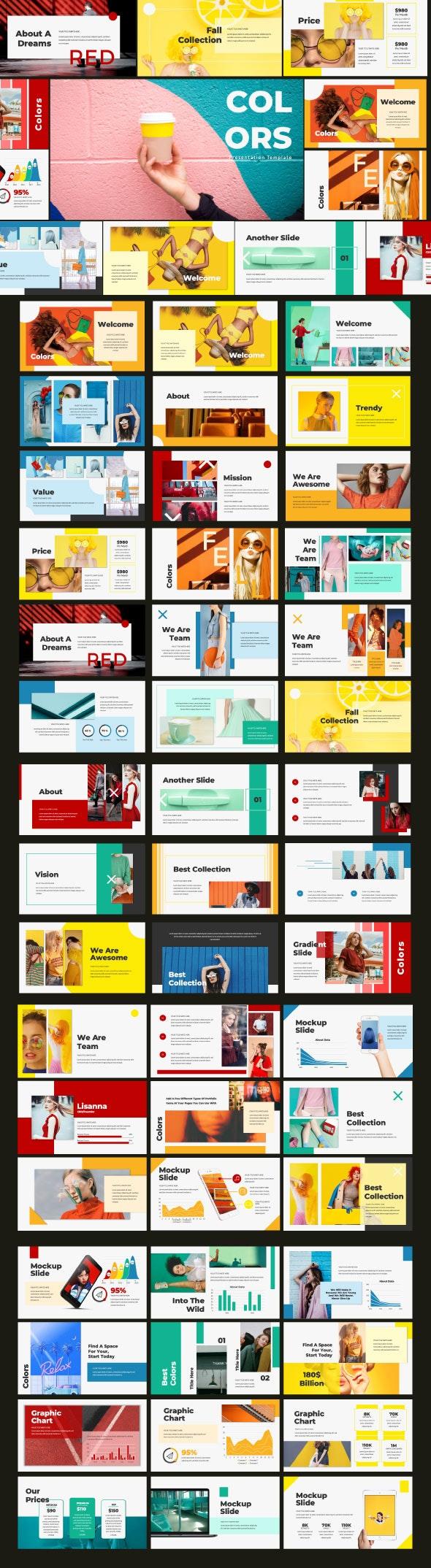 Colors Google Slide Template - Google Slides Presentation Templates