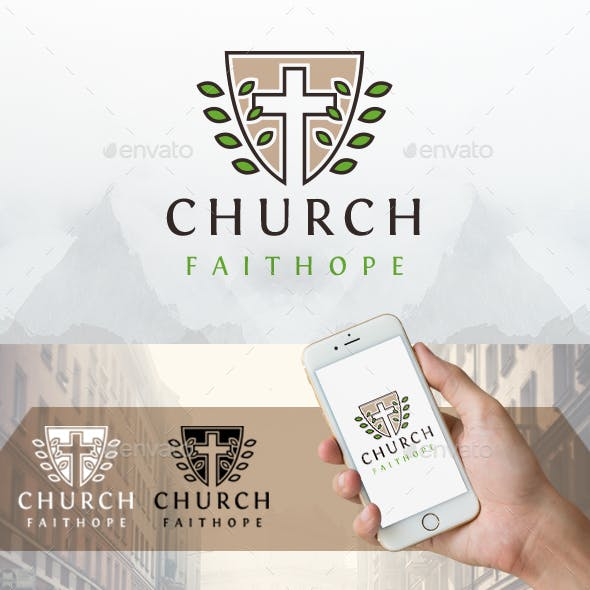 Eco Shield Cross Logo
