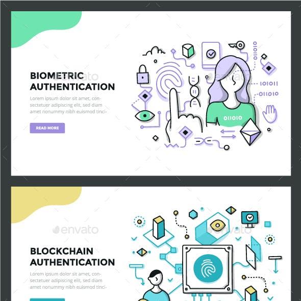 Authentication Technologies Color Line Concepts