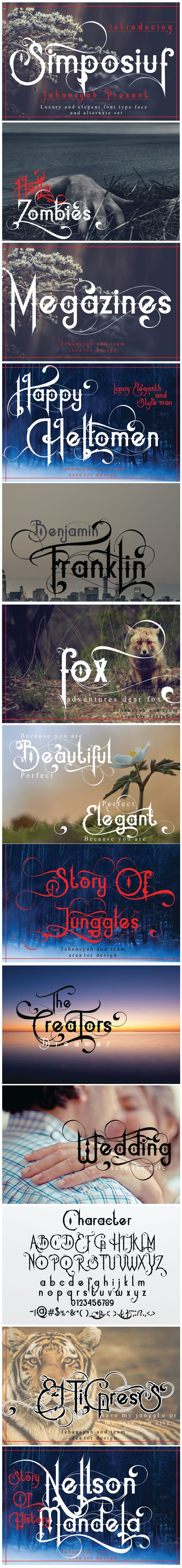 Simposiuf - Decorative Fonts