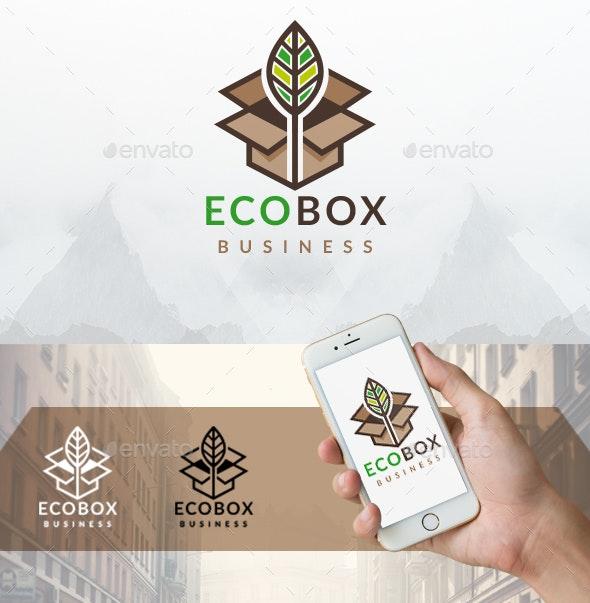 Eco Box Logo Template - Nature Logo Templates