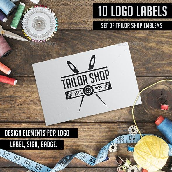 Tailor Sewing Logo Badges & Labels