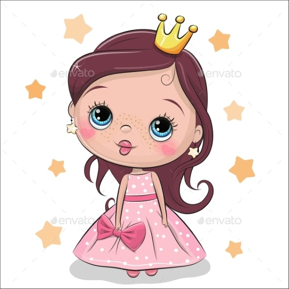 Greeting Card Fairy Tale Princess - Miscellaneous Vectors