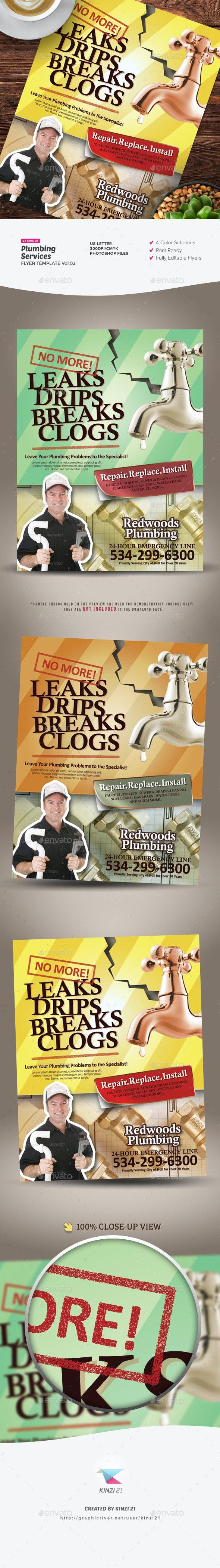 Plumbing Services Flyer Vol.02 - Corporate Flyers