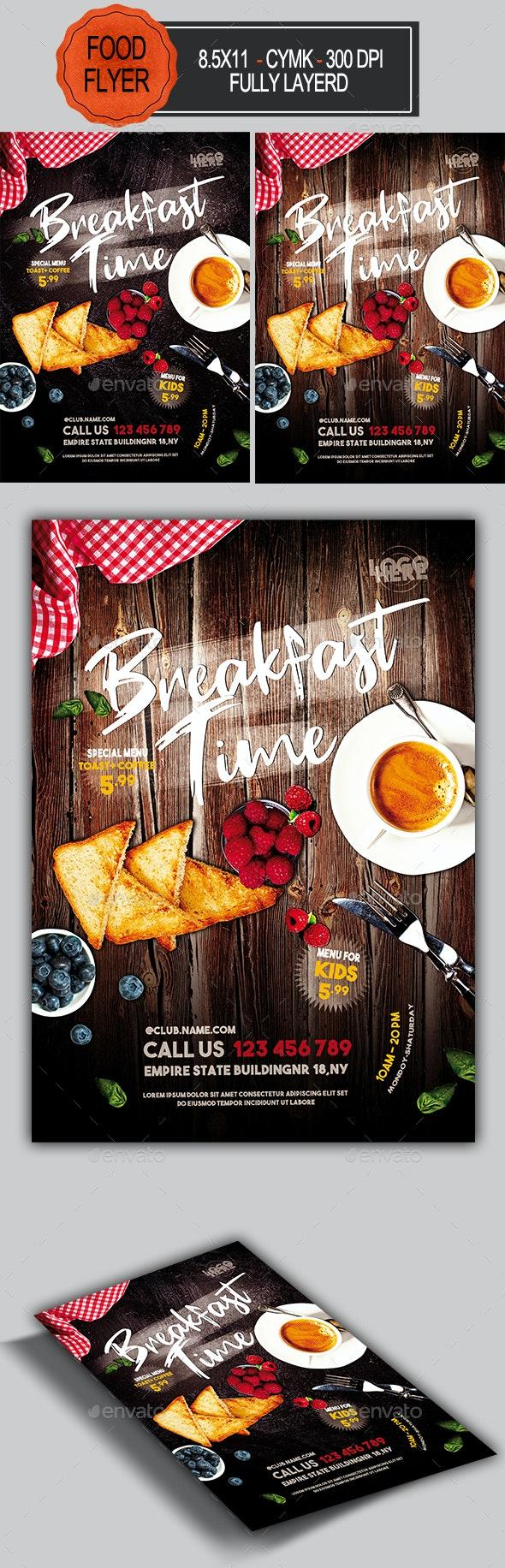 Breakfast Time Flyer - Restaurant Flyers