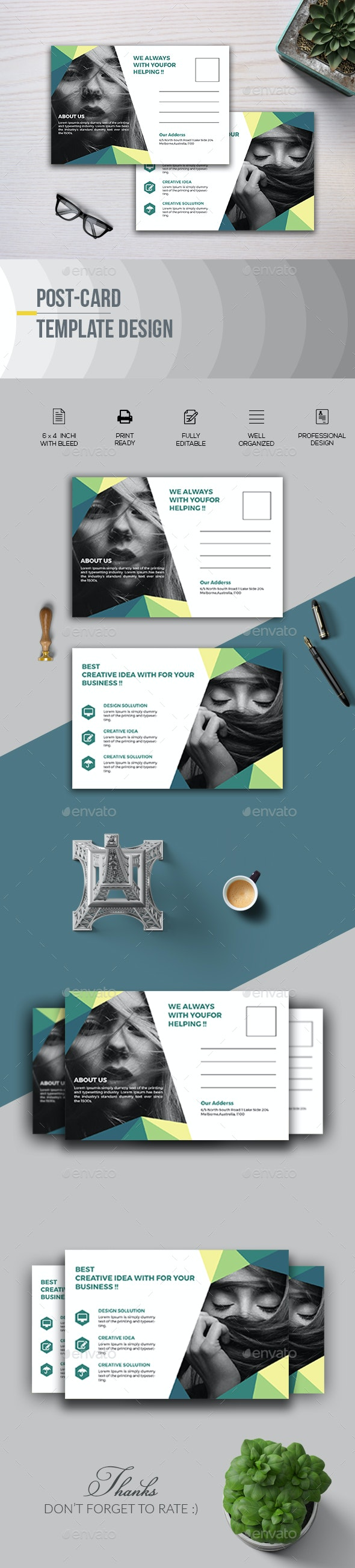 Post Card Template - Cards & Invites Print Templates