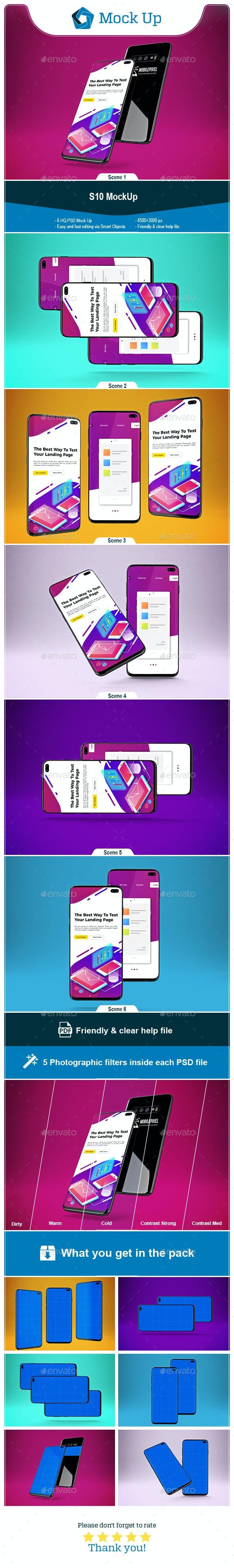 S10 MockUp - Mobile Displays
