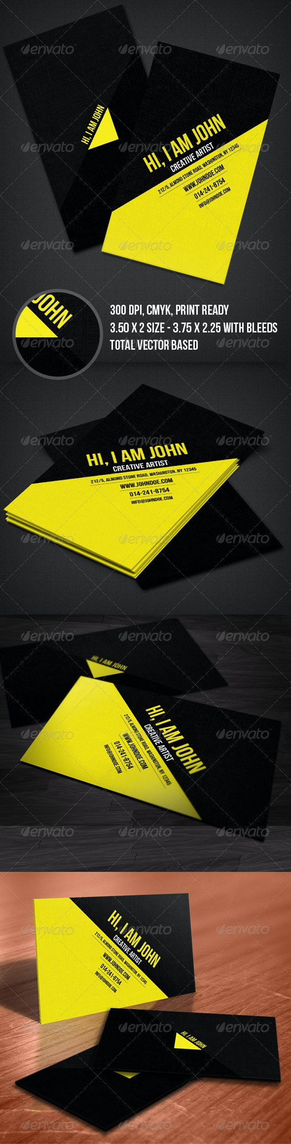 Creative Yellow Business Card - Creative Business Cards
