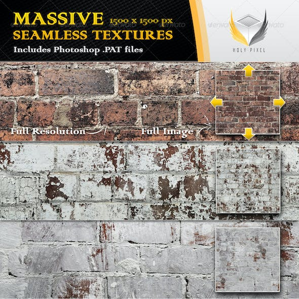 10 Seamless Rough Brick Textures