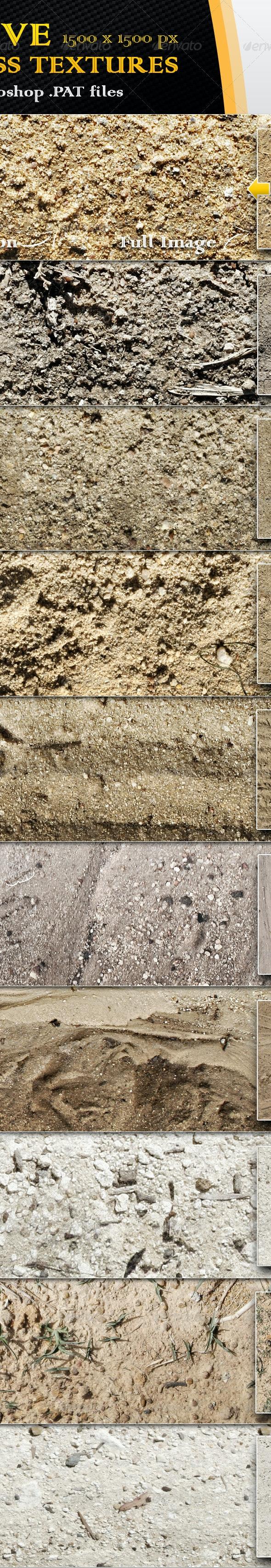 10 Seamless Sand Textures - Nature Textures / Fills / Patterns