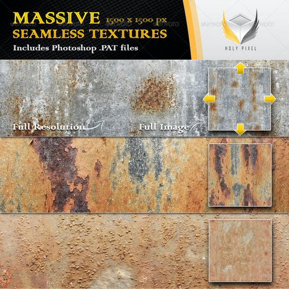 6 Seamless Rusty Metal Textures