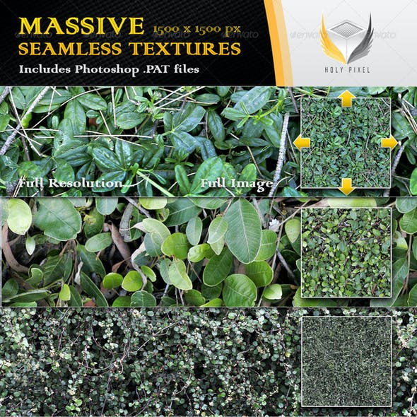 10 Seamless Plant and Hedge Textures