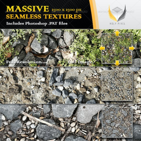 10 Seamless Gravel and Rock Textures