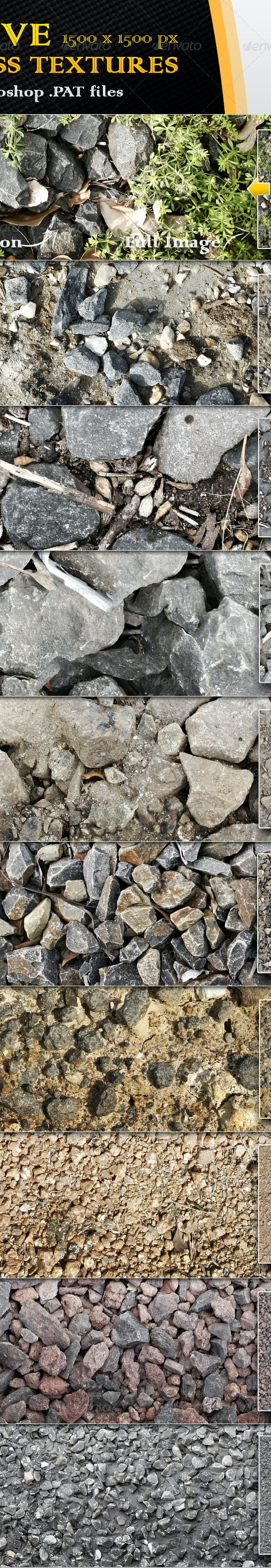10 Seamless Gravel and Rock Textures - Miscellaneous Textures / Fills / Patterns