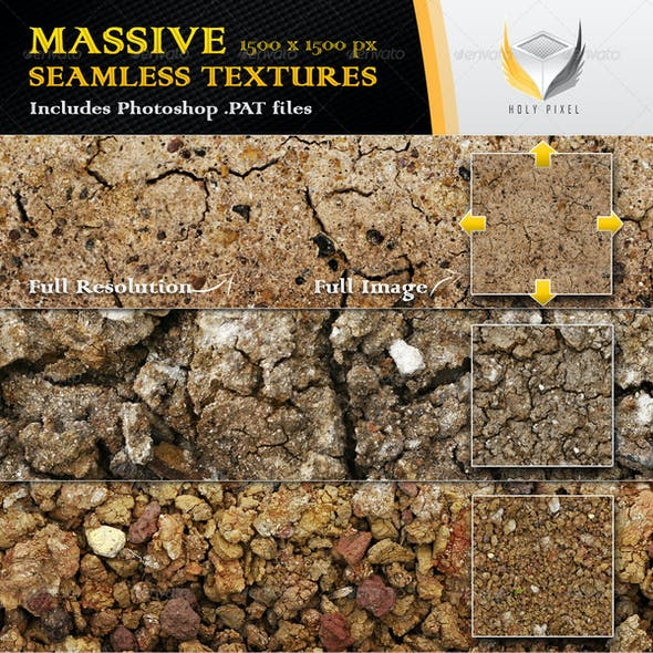10 Seamless Clay Textures