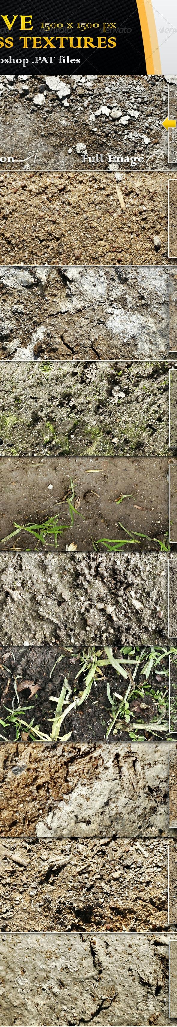 10 Seamless Dirt and Soil Textures - Nature Textures / Fills / Patterns