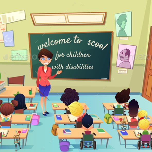 Education for Kids with Special Needs Vector