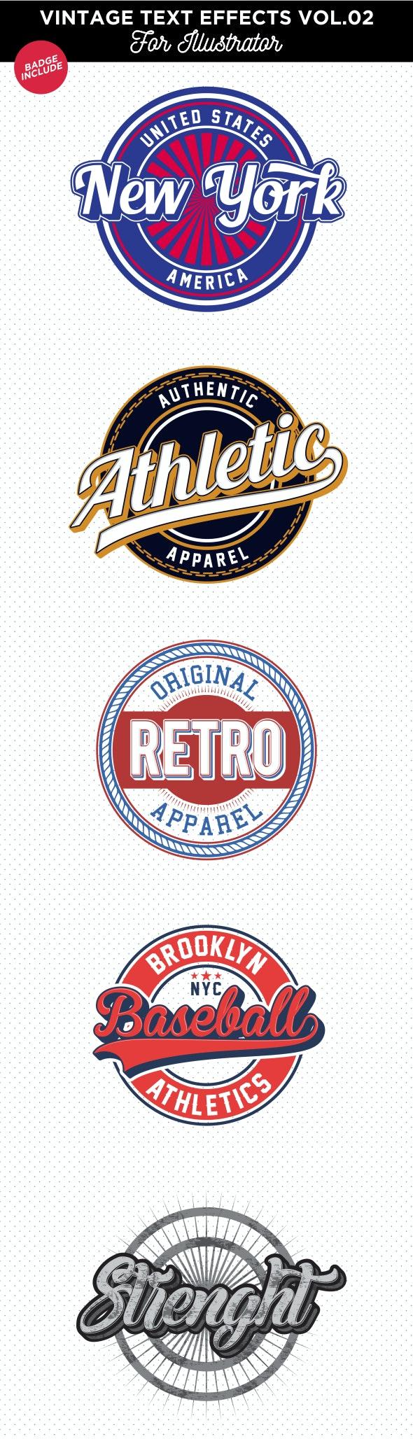 Vintage Text Effect for Illustrator - Styles Illustrator