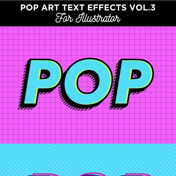 Pop art text effects for Illustrator