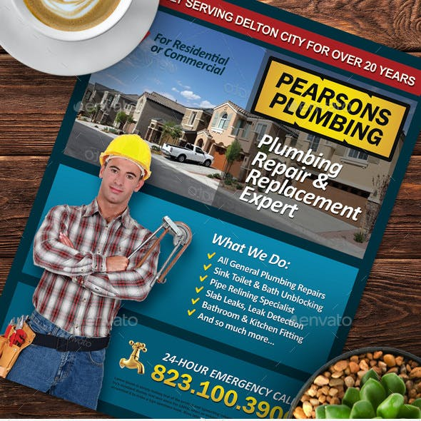Plumbing Services Flyer Vol.01