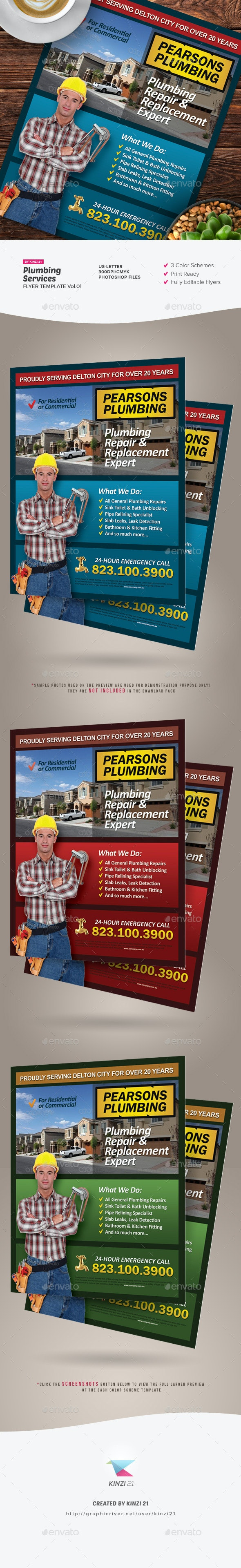 Plumbing Services Flyer Vol.01 - Corporate Flyers