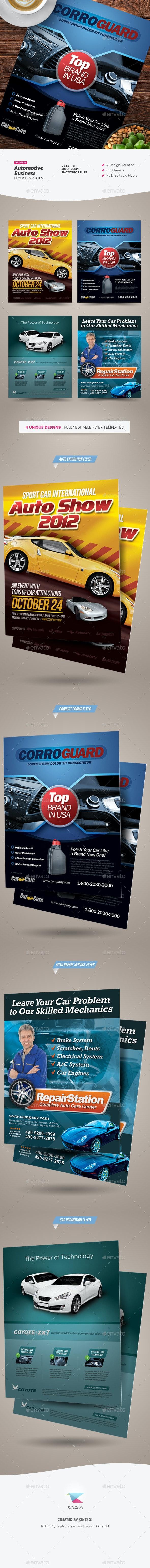 Premium Automotive Business Flyers - Corporate Flyers