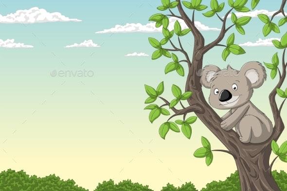 Koala on a Tree - Animals Characters