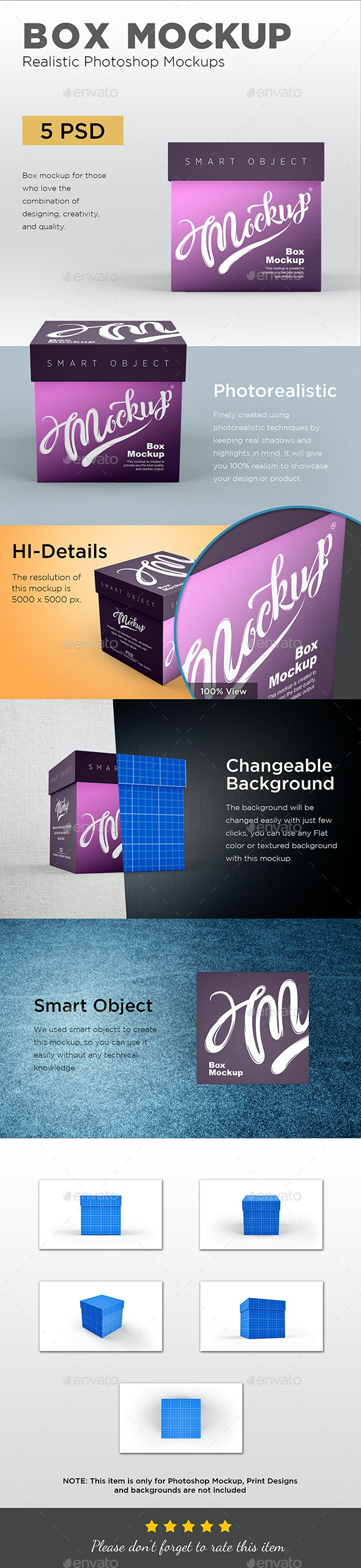 Box Mockup - Packaging Product Mock-Ups