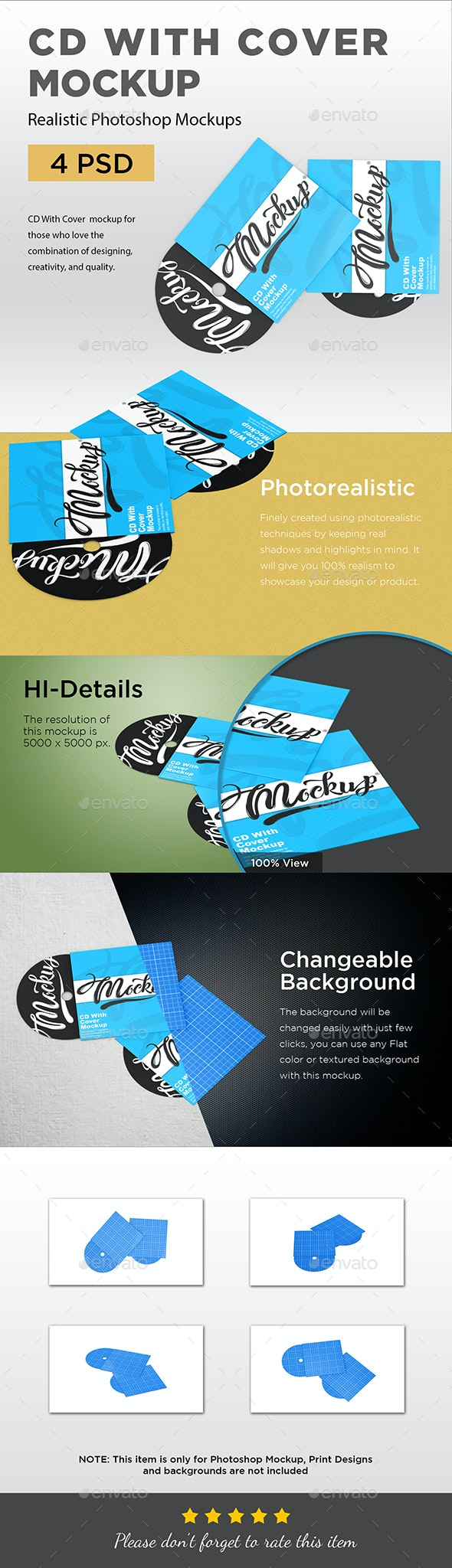 CD With Cover Mockup - Product Mock-Ups Graphics