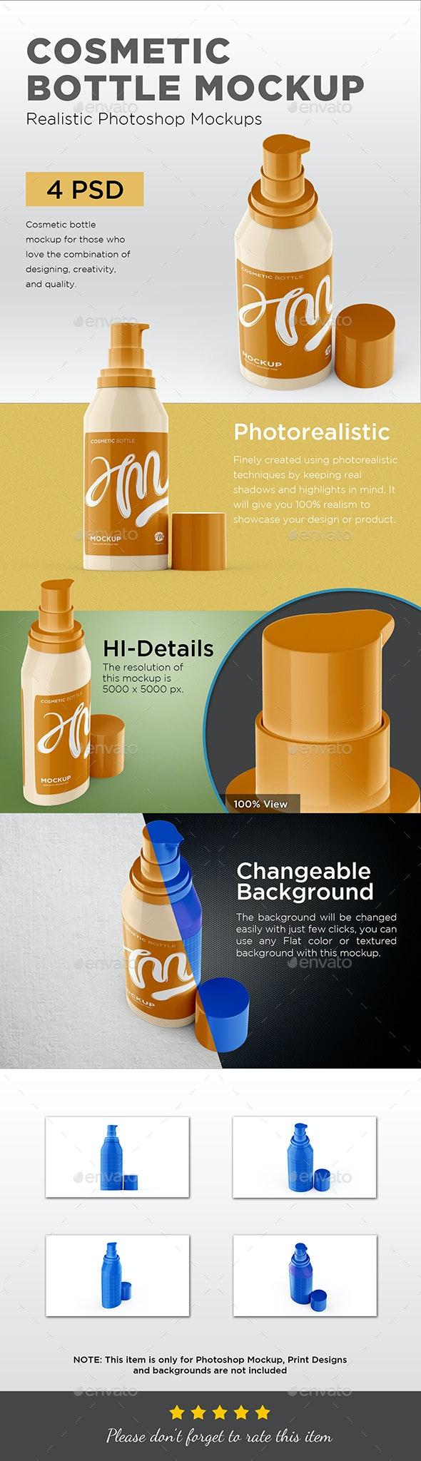 Cosmetic Bottle Mockup - Beauty Packaging