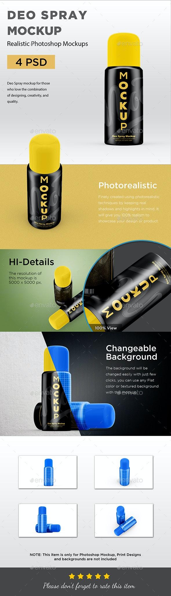 Deo Spray Mockup - Beauty Packaging