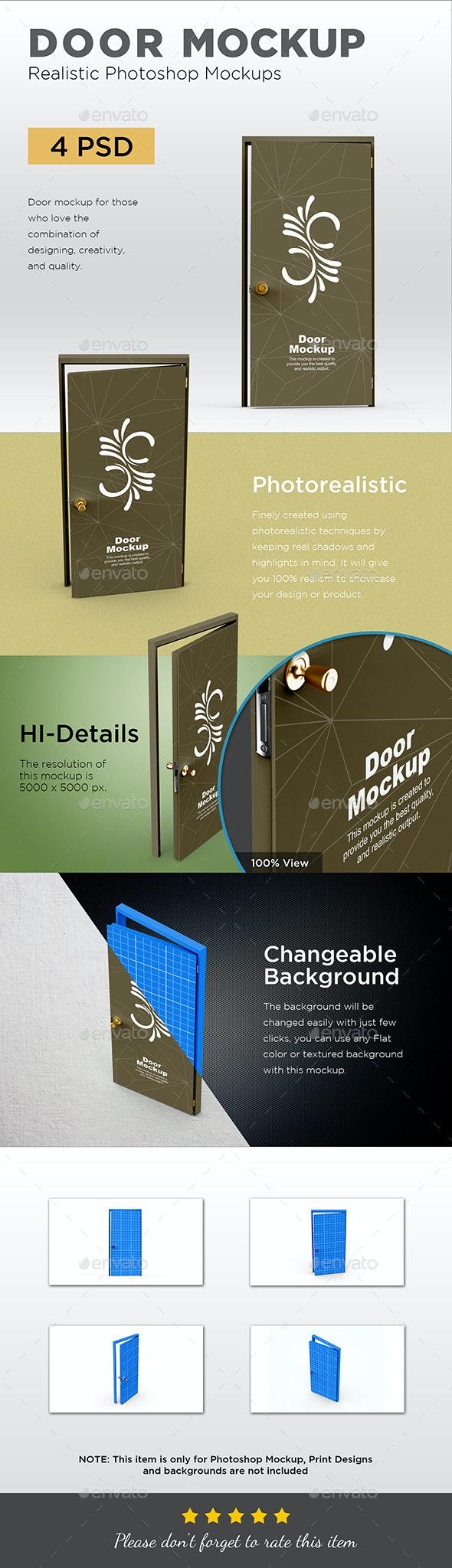 Door Mockup - Product Mock-Ups Graphics