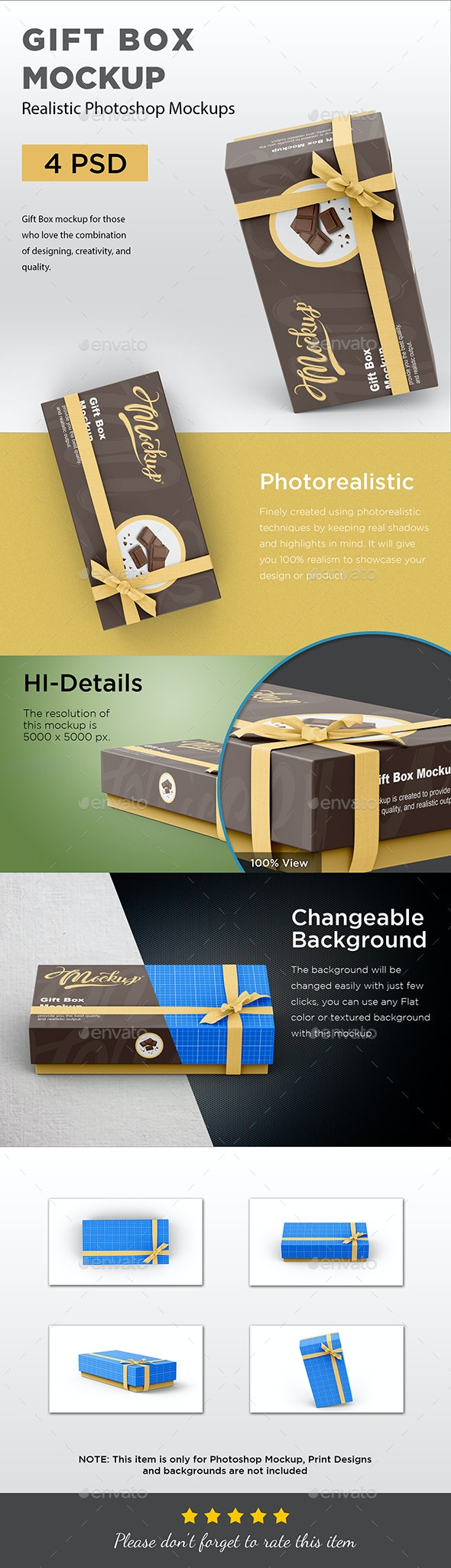 Gift Box Mockup - Packaging Product Mock-Ups