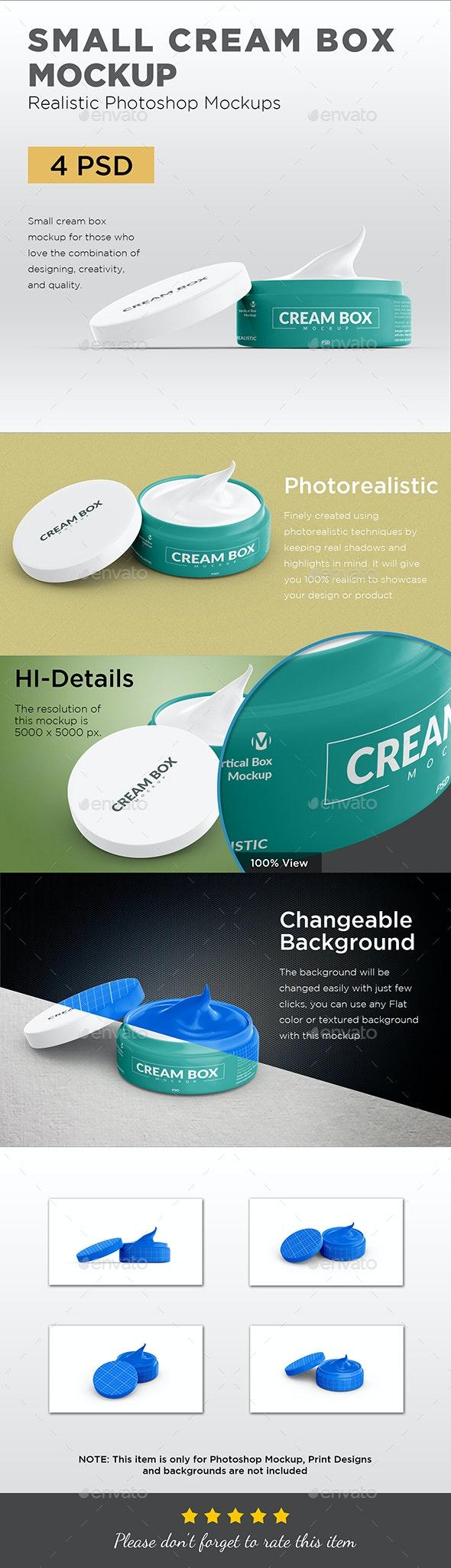 Small Cream Box Mockup - Beauty Packaging