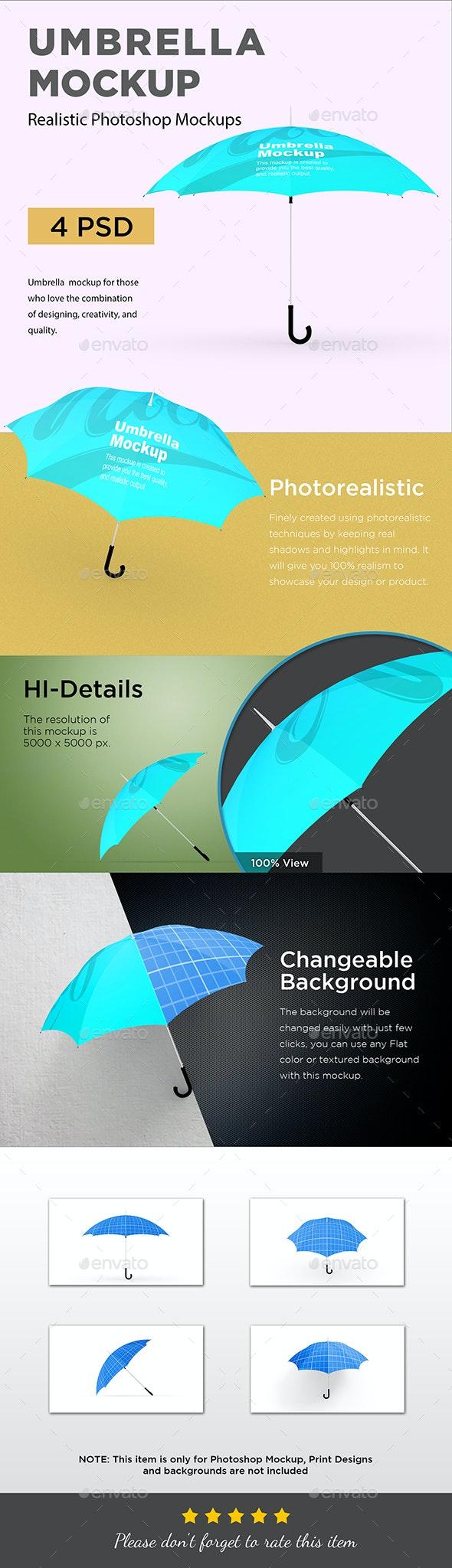 Umbrella Mockup - Product Mock-Ups Graphics