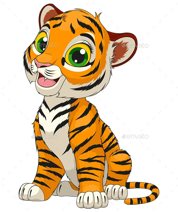 Tiger Cub - Animals Characters