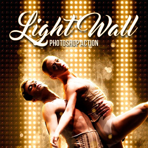 Light Wall Photoshop Action