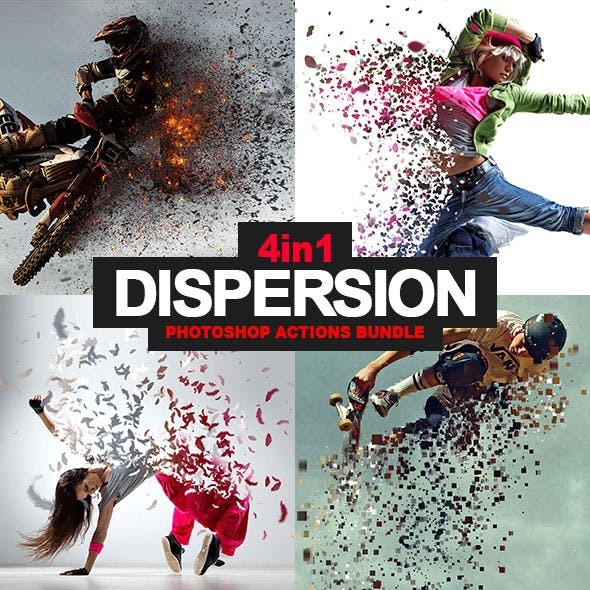 4-in-1 Dispersion Bundle Photoshop Action