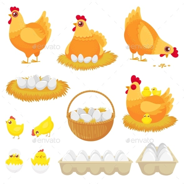 Chicken and Egg - Animals Characters