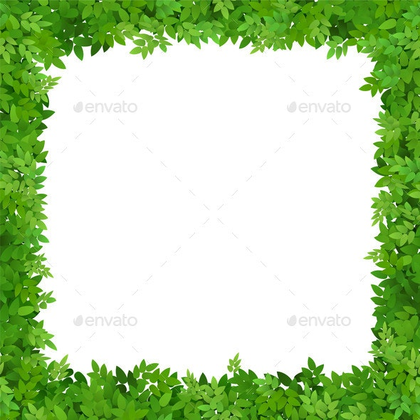 Square Frame of Leaves - Backgrounds Decorative
