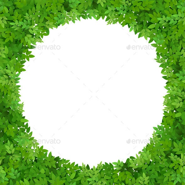 Circular Frame of Green Leaves - Flowers & Plants Nature