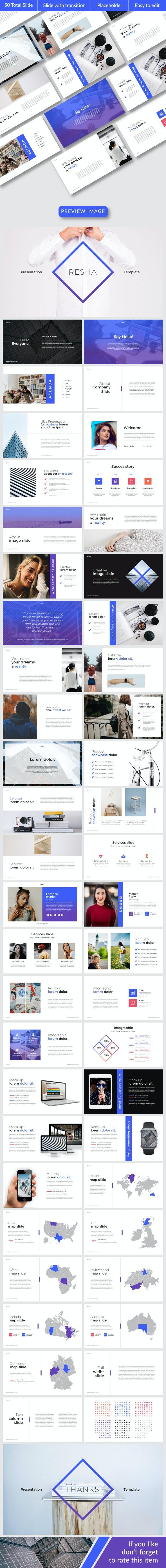 Resha Google Slide Temp - Google Slides Presentation Templates