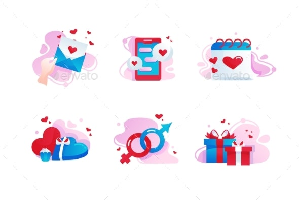 Set Icons with Love - Valentines Seasons/Holidays