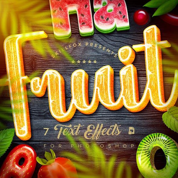 Fruit Text Effects х7 Psd