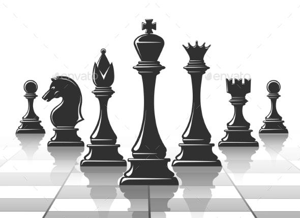 Chess Strategy Concept - Miscellaneous Vectors